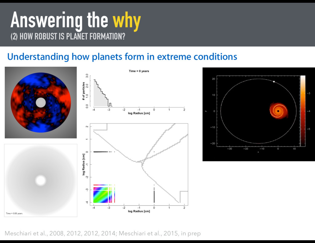 Answering the why (2) HOW ROBUST IS PLANET FORM...