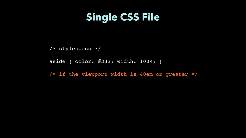 """Single CSS File /* styles.css */"""" ! aside { col..."""