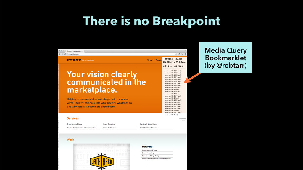 There is no Breakpoint Media Query Bookmarklet...
