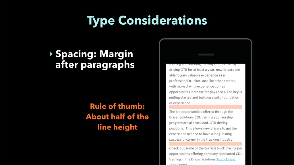 Type Considerations ‣ Spacing: Margin after par...