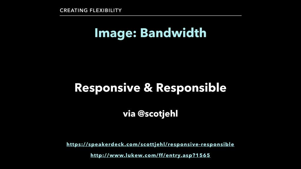 CREATING FLEXIBILITY Image: Bandwidth Responsiv...
