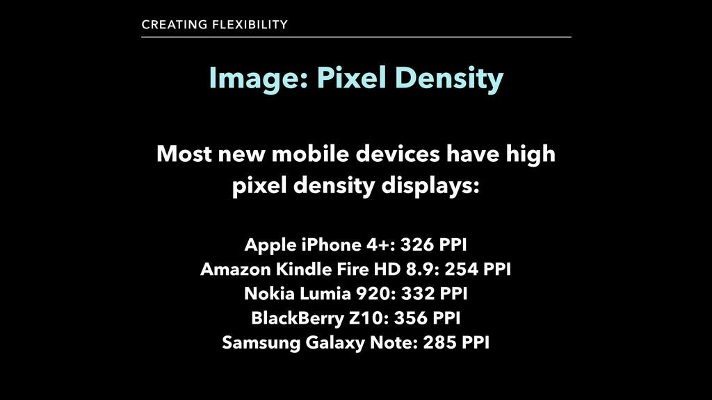 CREATING FLEXIBILITY Image: Pixel Density Most ...