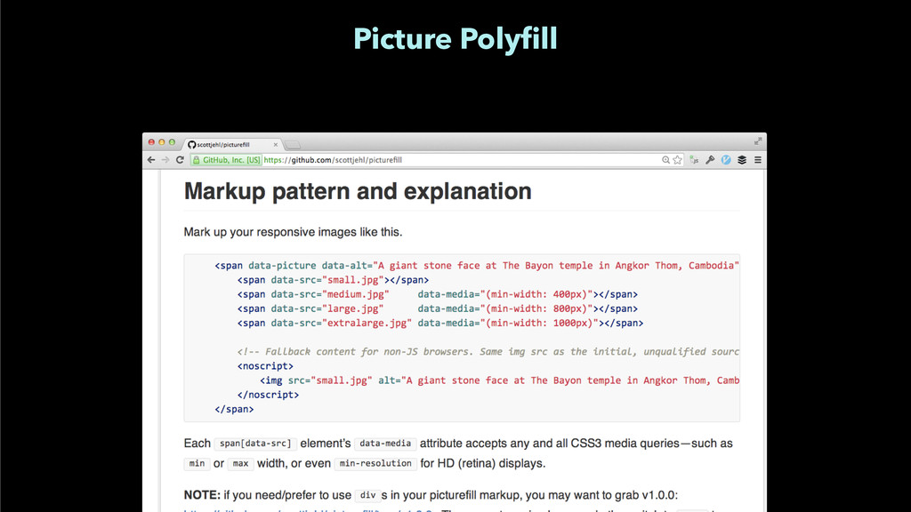 Picture Polyfill