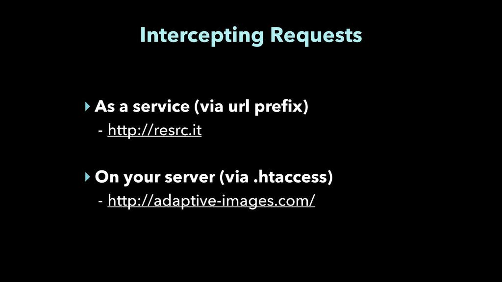 Intercepting Requests ‣ As a service (via url p...