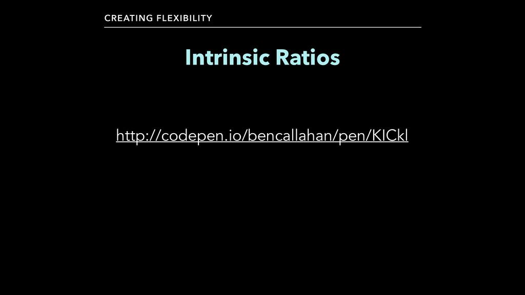 CREATING FLEXIBILITY Intrinsic Ratios http://co...