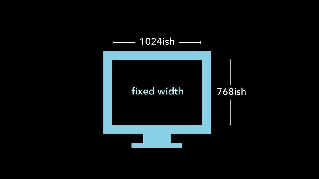 fixed width 1024ish 768ish