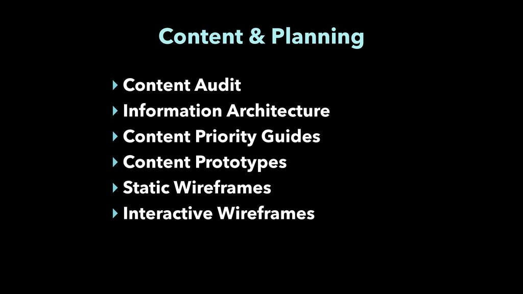 Content & Planning ‣ Content Audit ‣ Informatio...