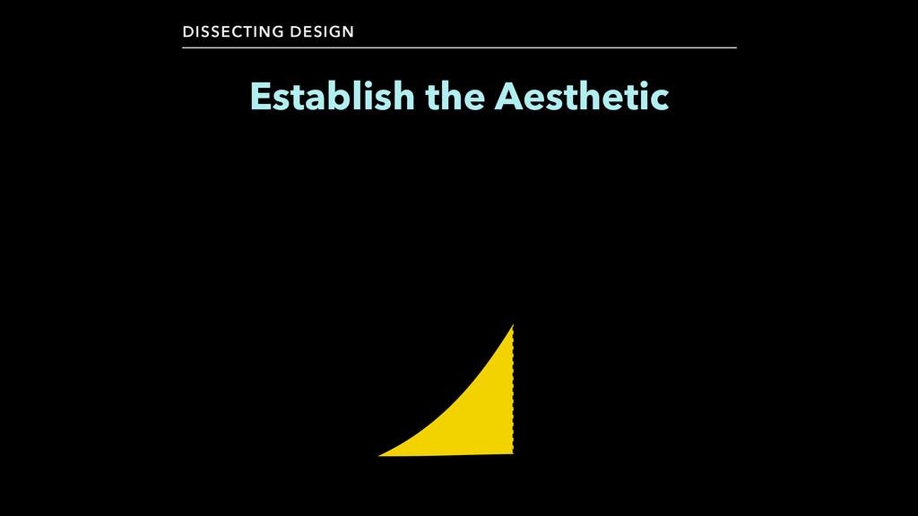 Establish the Aesthetic DISSECTING DESIGN