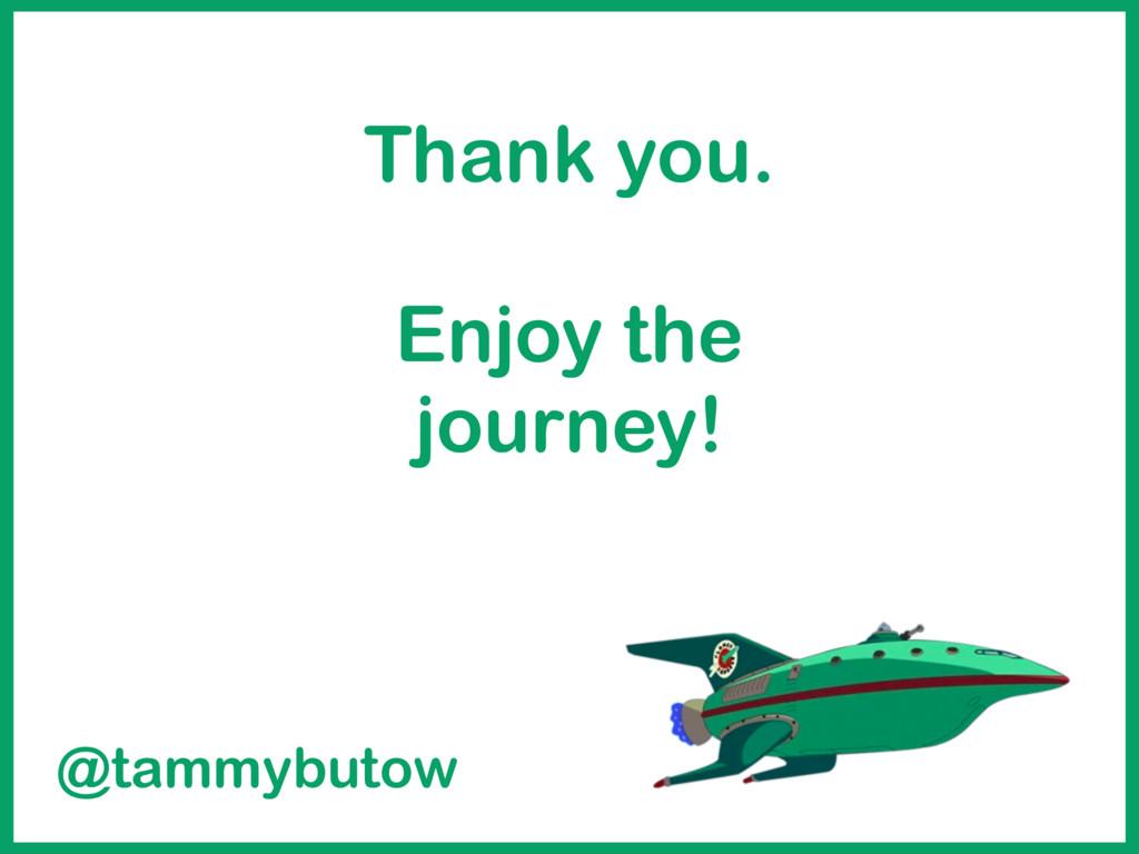 Thank you. Enjoy the journey! @tammybutow