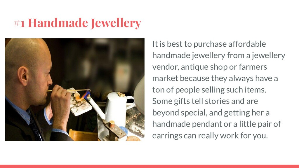 #1 Handmade Jewellery It is best to purchase af...