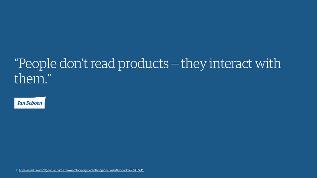 """""""People don't read products—they interact wit..."""