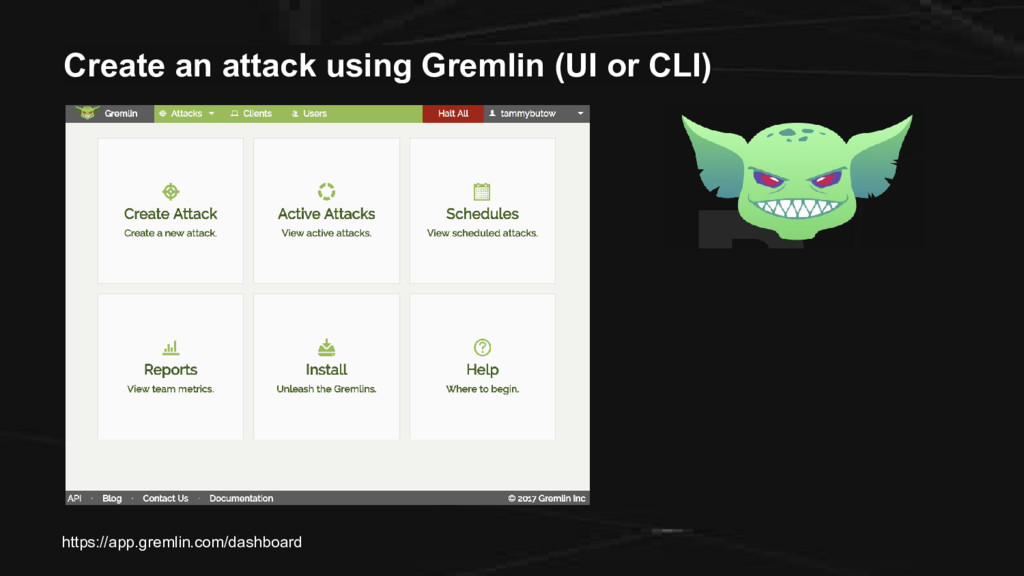 Create an attack using Gremlin (UI or CLI) http...