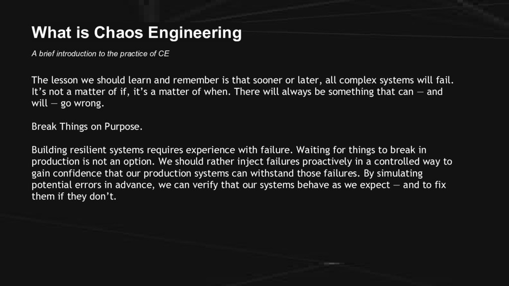 What is Chaos Engineering A brief introduction ...