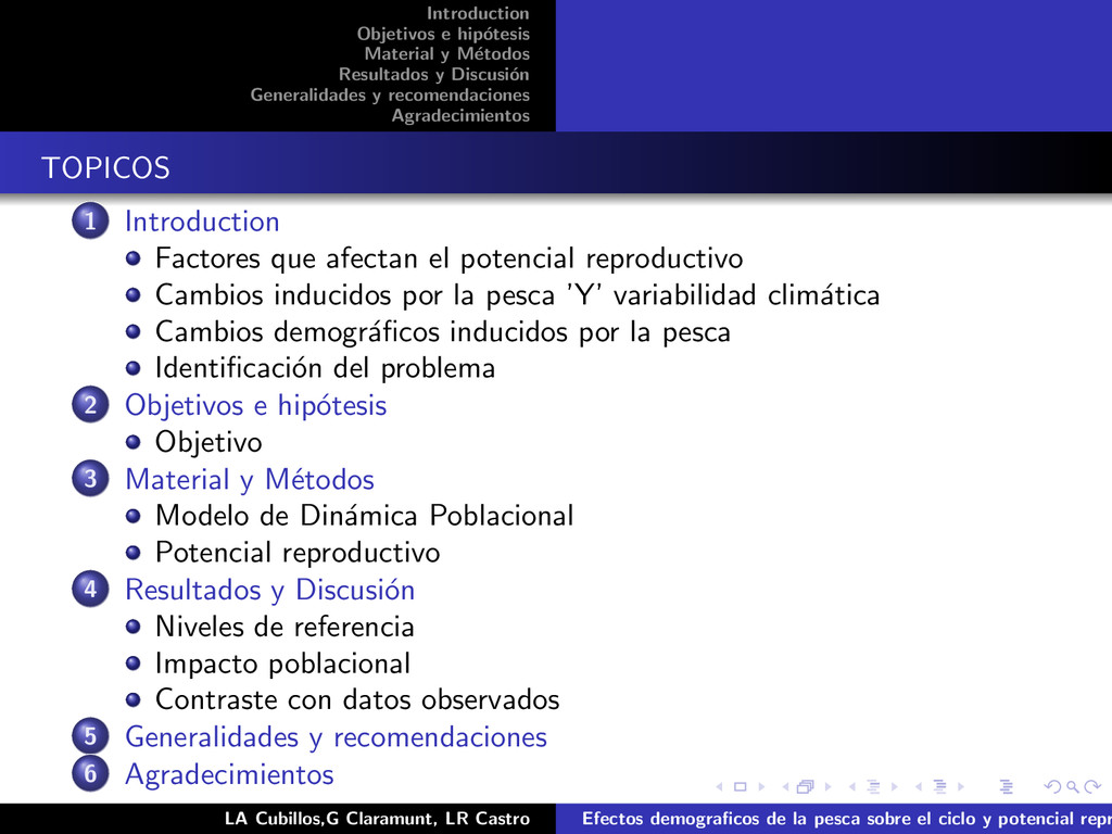 Introduction Objetivos e hip´ otesis Material y...