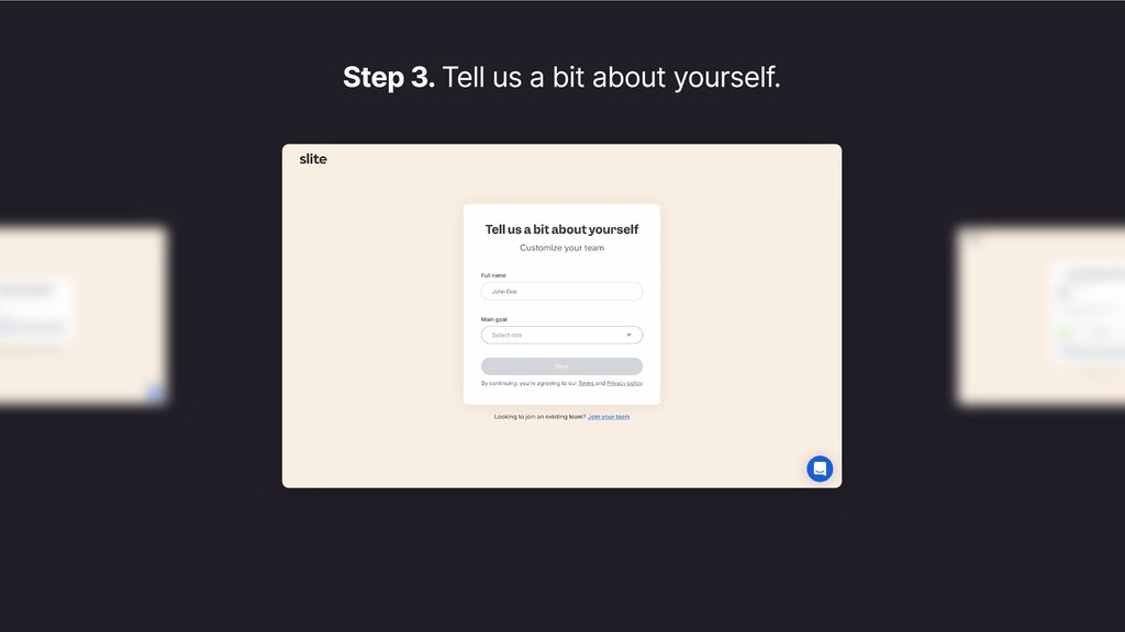 Step 3. Tell us a bit about yourself.