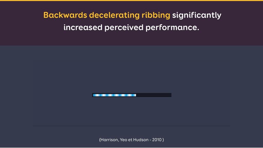 Backwards decelerating ribbing significantly in...