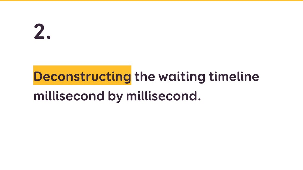 Deconstructing the waiting timeline millisecond...