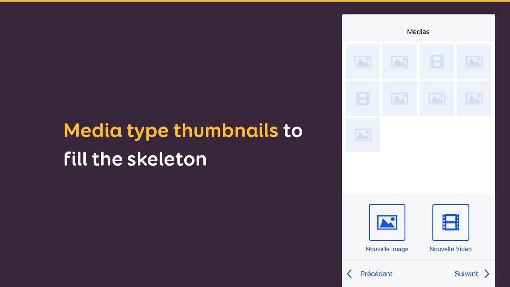 Media type thumbnails to fill the skeleton Nouv...