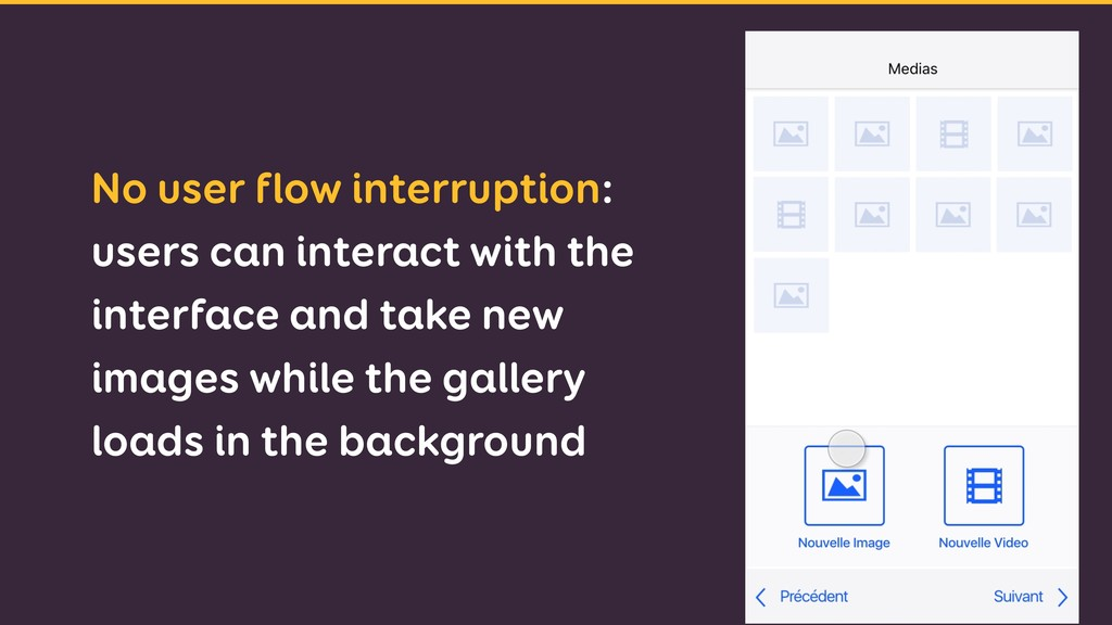 No user flow interruption: users can interact w...