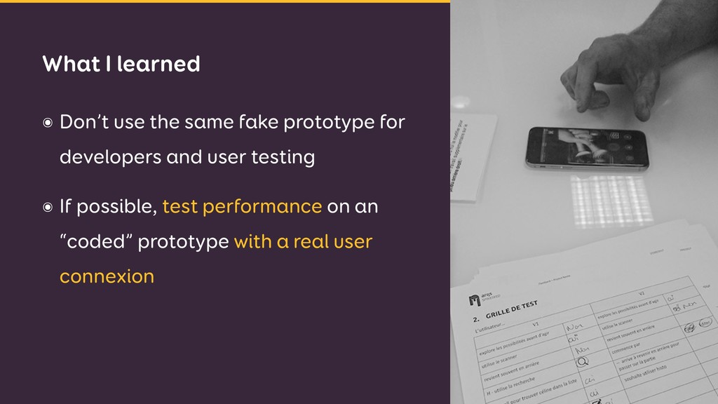 ๏ Don't use the same fake prototype for develop...