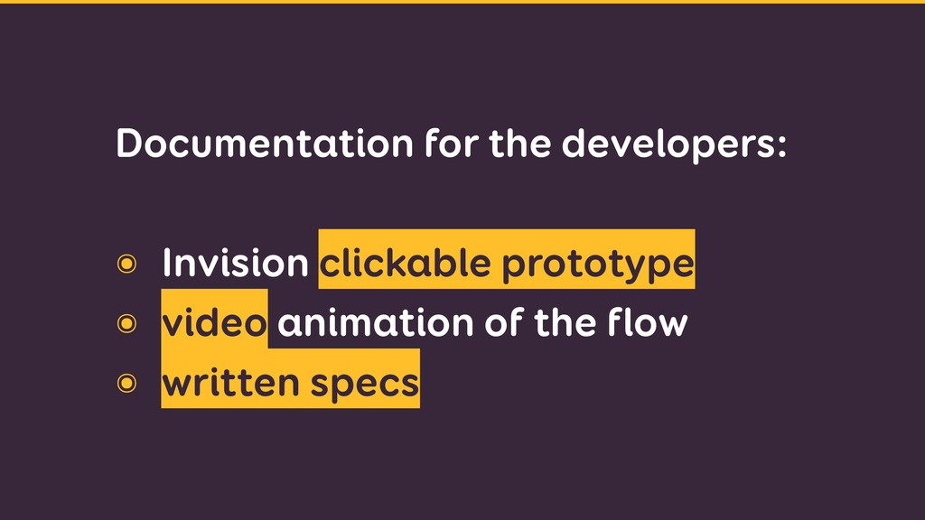 Documentation for the developers: ๏ Invision c...