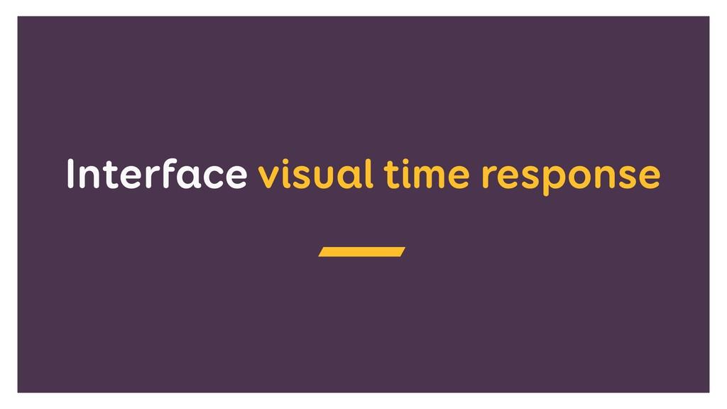 Interface visual time response