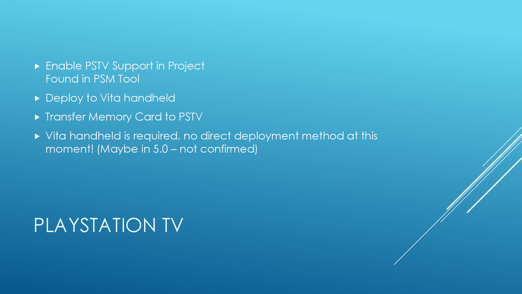 PLAYSTATION TV  Enable PSTV Support in Project...