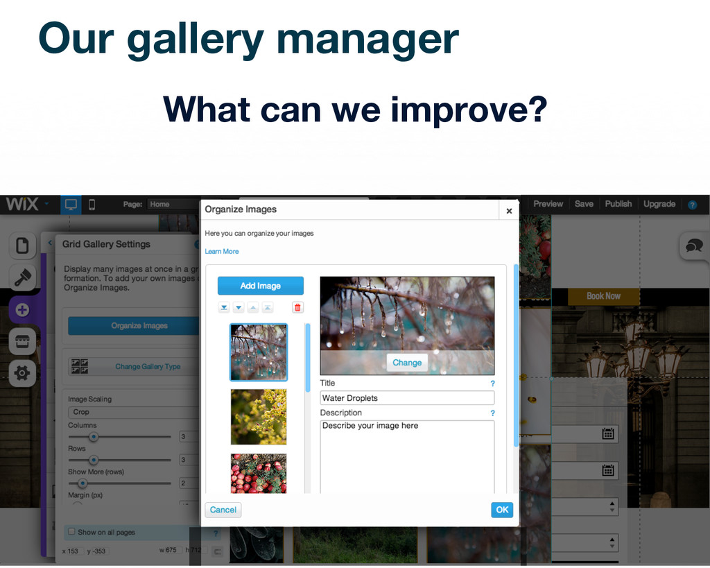 Our gallery manager What can we improve?