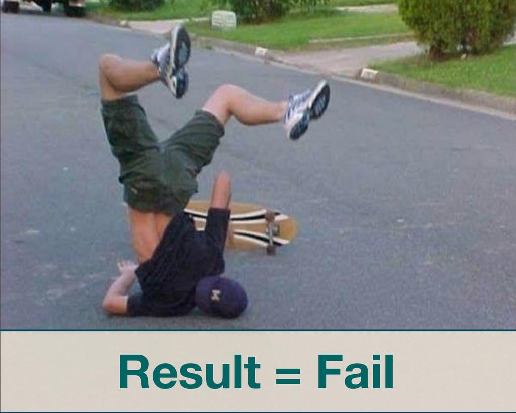 Result = Fail