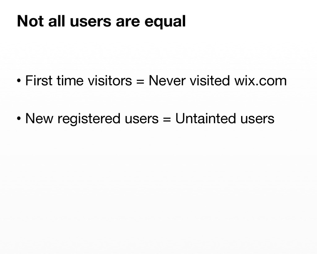 •First time visitors = Never visited wix.com ...