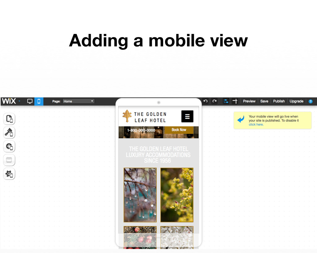 Adding a mobile view