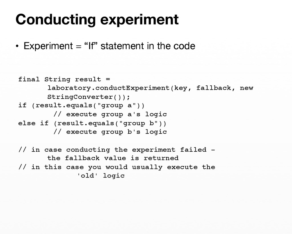 """• Experiment = """"If"""" statement in the code Con..."""