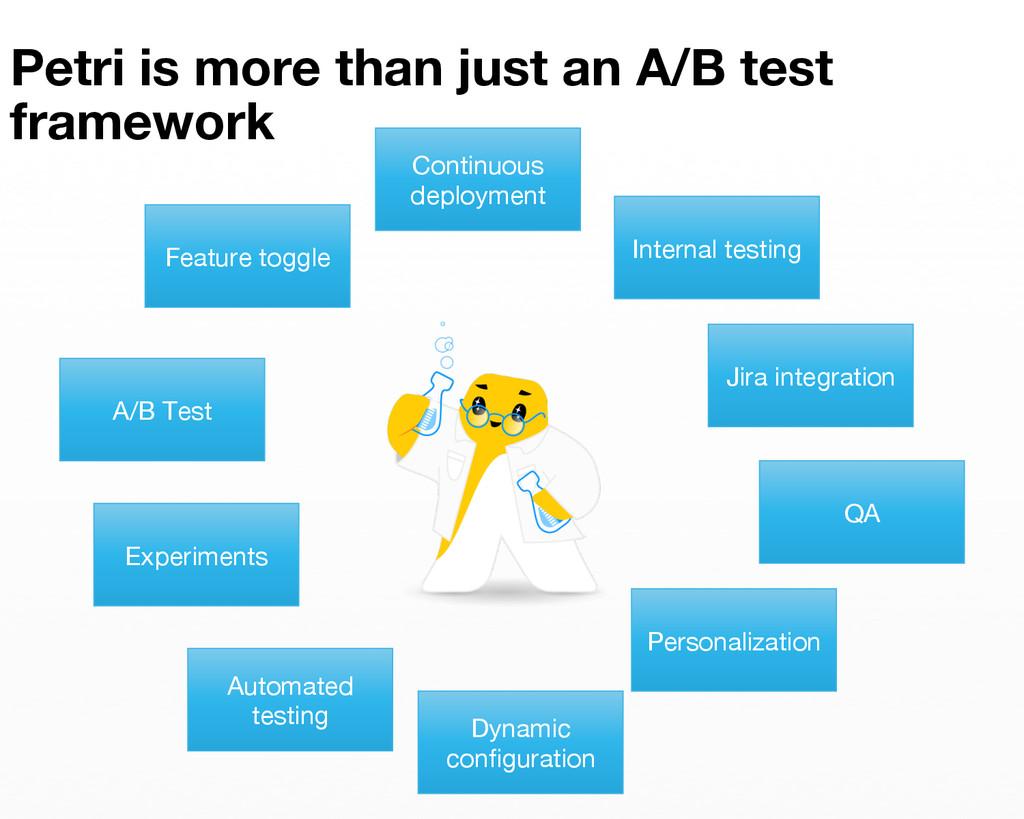 Petri is more than just an A/B test framework ...