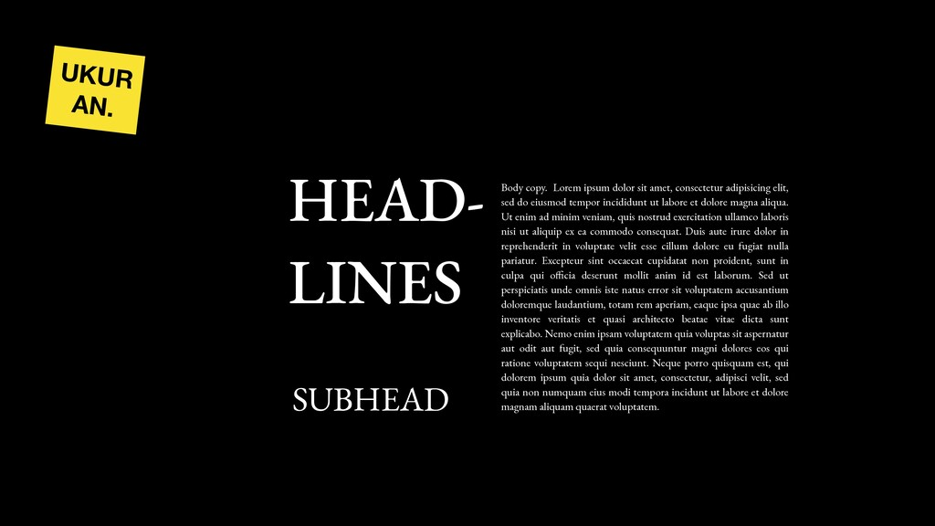 UKUR AN. HEAD- LINES SUBHEAD Body copy. Lorem i...