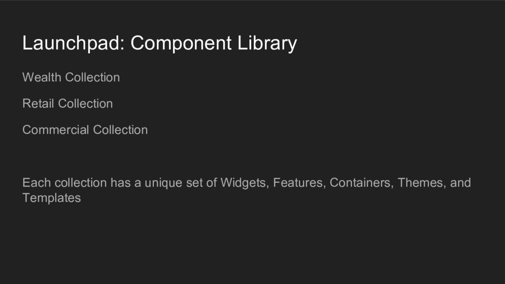 Launchpad: Component Library Wealth Collection ...