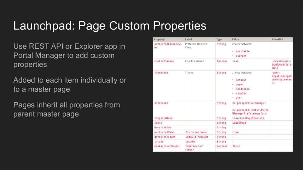 Launchpad: Page Custom Properties Use REST API ...