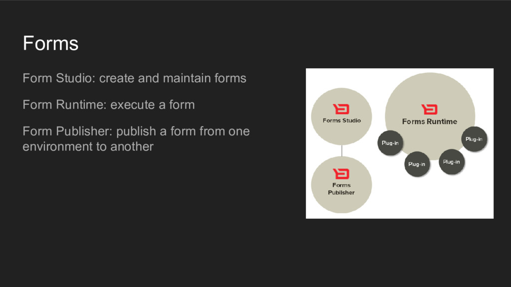 Forms Form Studio: create and maintain forms Fo...