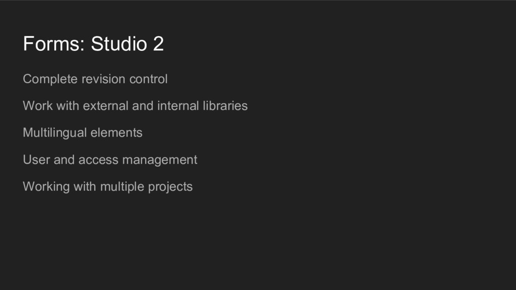 Forms: Studio 2 Complete revision control Work ...