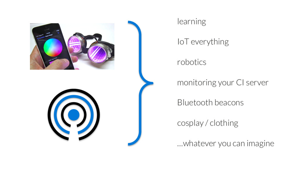 IoT everything Bluetooth beacons learning robot...