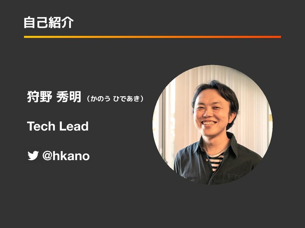 Tech Lead   @hkano