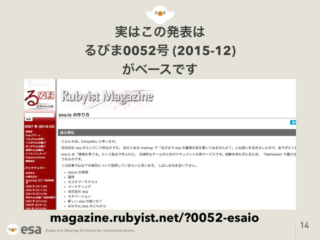 ࣮͜ͷൃද Δͼ·0052߸ (2015-12) ͕ϕʔεͰ͢ 14 magazine.r...
