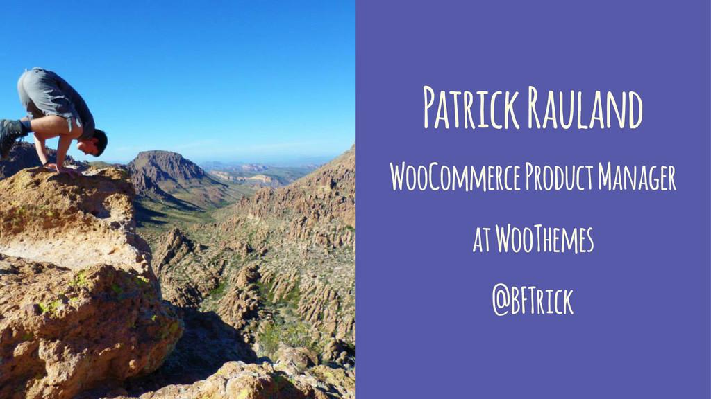 Patrick Rauland WooCommerce Product Manager at ...