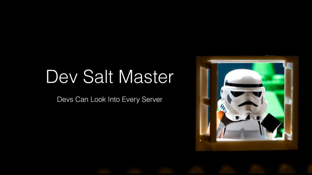 Dev Salt Master Devs Can Look Into Every Server