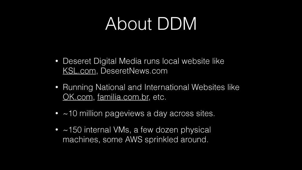 About DDM • Deseret Digital Media runs local we...