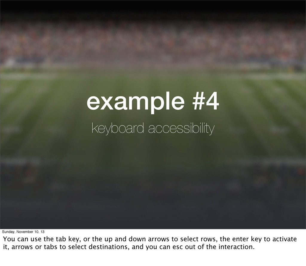 example #4 keyboard accessibility Sunday, Novem...