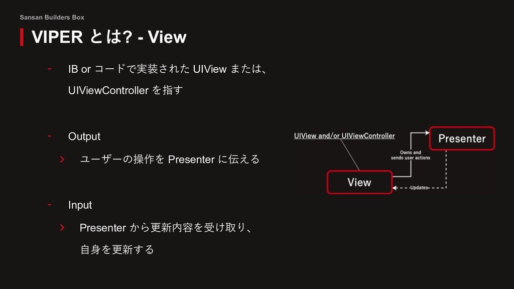 Sansan Builders Box VIPER とは? - View - IB or コー...