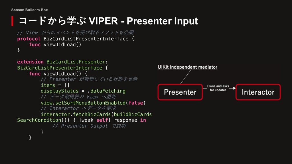 Sansan Builders Box コードから学ぶ VIPER - Presenter I...