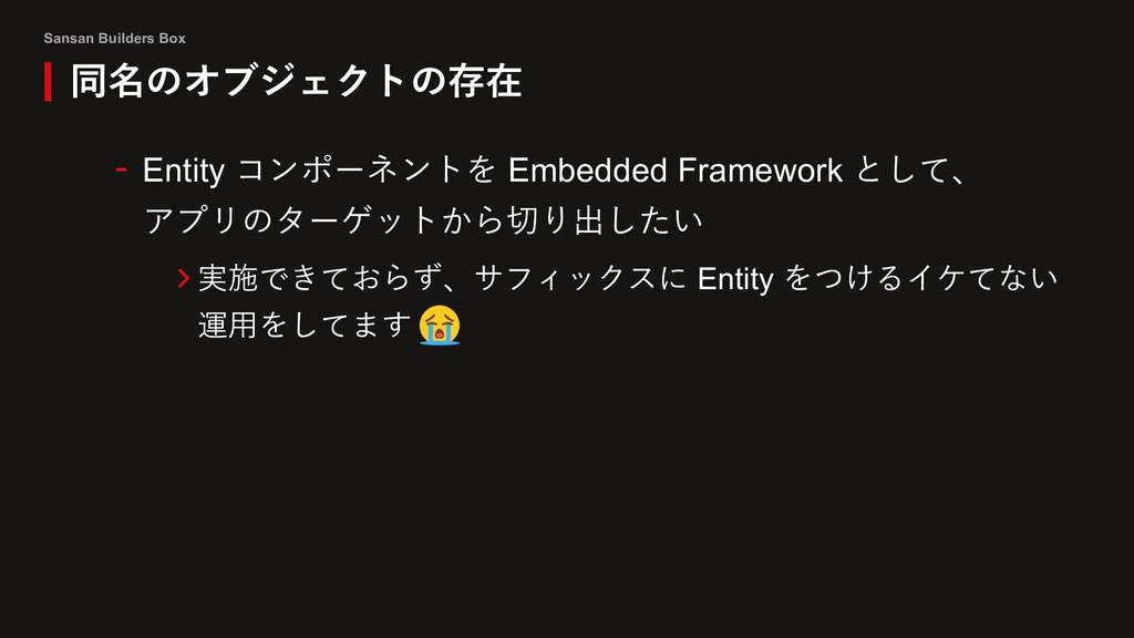 Sansan Builders Box 同名のオブジェクトの存在 - Entity コンポーネ...