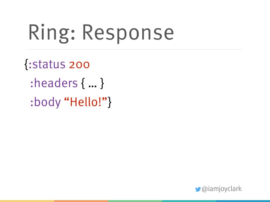@iamjoyclark Ring: Response {:status 200 :heade...