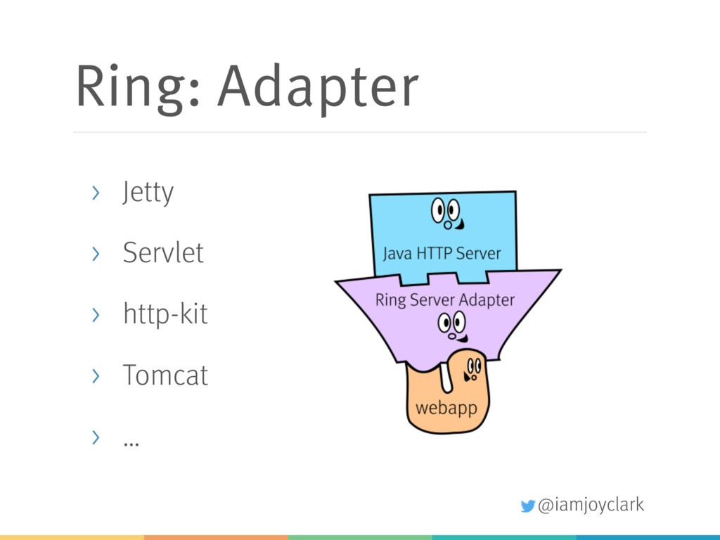 @iamjoyclark Ring: Adapter > Jetty > Servlet > ...